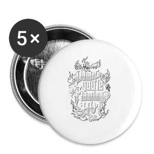 Flaming Hot (White) (unisex) - Buttons/Badges lille, 25 mm
