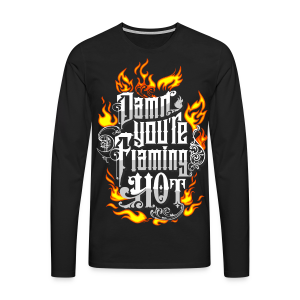 Flaming Hot (Color) (unisex) - Herre premium T-shirt med lange ærmer