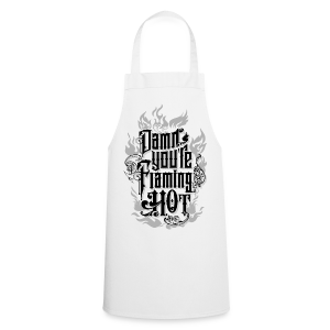 Flaming Hot (BlackNWhite) (unisex) - Forklæde