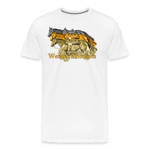 Motiv-193-Schwarz-Braun - Männer Premium T-Shirt