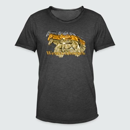 Motiv-193-Schwarz-Braun - Männer Vintage T-Shirt