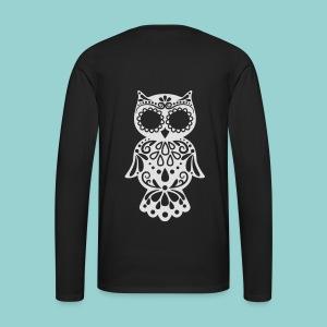 Sugar owl - Männer Premium Langarmshirt