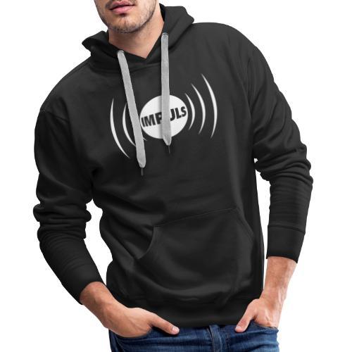 Impuls Logo white - Männer Premium Hoodie