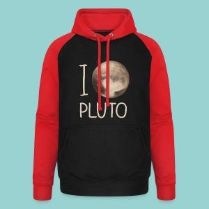 I love Pluto - Unisex Baseball Hoodie