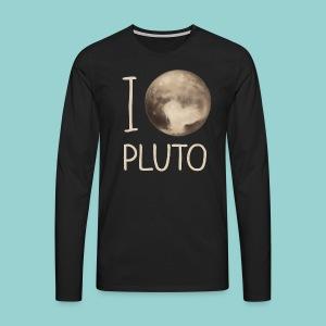 I love Pluto - Männer Premium Langarmshirt