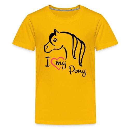 I ♥ my Pony Kindershirt - Teenager Premium T-Shirt