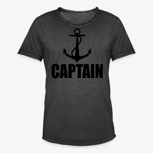 Captain Heimathafen Hamburg Steuermann 1c Männer Shirt  - Männer Vintage T-Shirt
