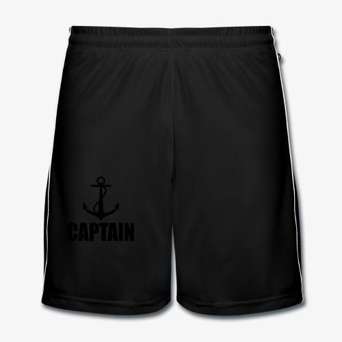 Captain Heimathafen Hamburg Steuermann 1c Männer Shirt  - Männer Fußball-Shorts
