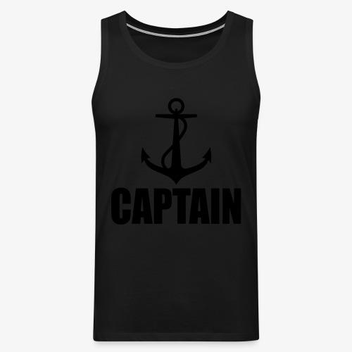 Captain Heimathafen Hamburg Steuermann 1c Männer Shirt  - Männer Premium Tank Top