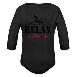 Surfer T-Shirt, Teenie Shirt - Baby Bio-Langarm-Body
