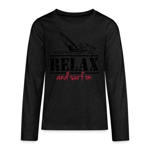 Surfer T-Shirt, Teenie Shirt - Teenager Premium Langarmshirt