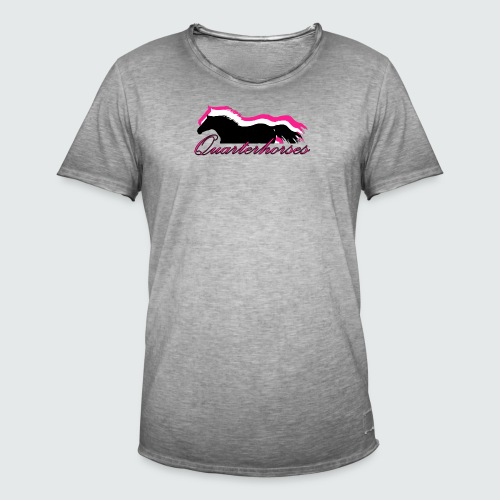 Motiv-186-Quarterhorses - Männer Vintage T-Shirt