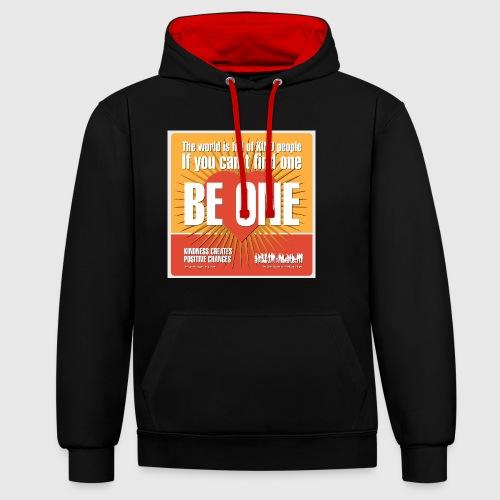 Men - tshirt - Be One - Kontrast-hættetrøje