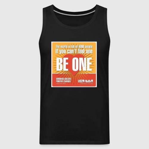 Men - tshirt - Be One - Herre Premium tanktop