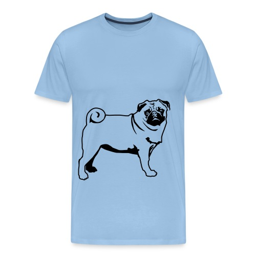 Mops fast lebensgroß - Männer Premium T-Shirt