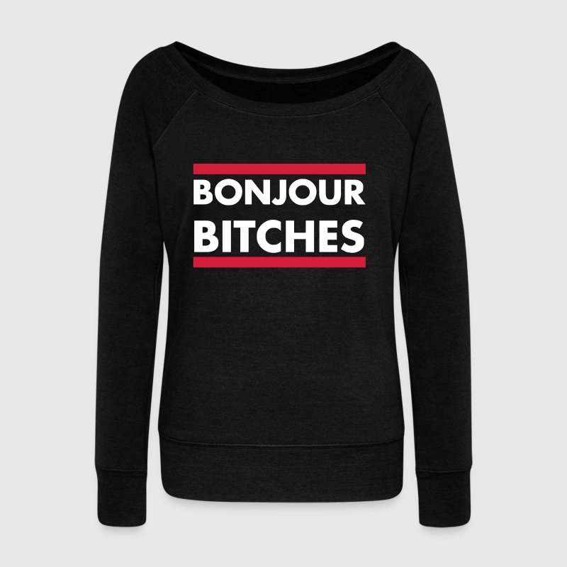 HELLO BITCHES Sweat-shirts - Pull Femme col bateau de Bella