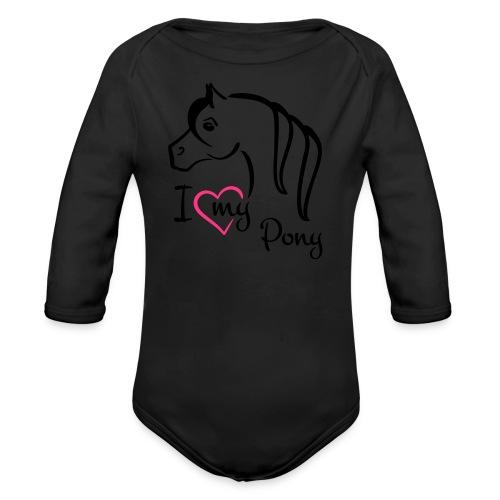 kids shirt I ♥ my pony - Organic Longsleeve Baby Bodysuit