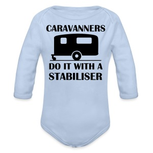 With a Stabiliser - Longlseeve Baby Bodysuit