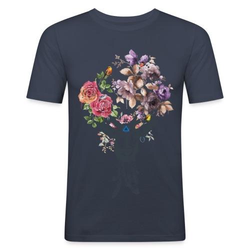 Deer Flower for men V-Col - T-shirt près du corps Homme
