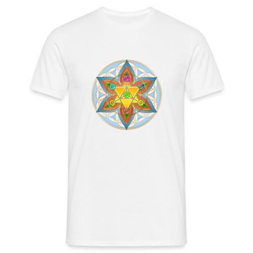 Die Blume des Lebens-Gelb - Männer T-Shirt