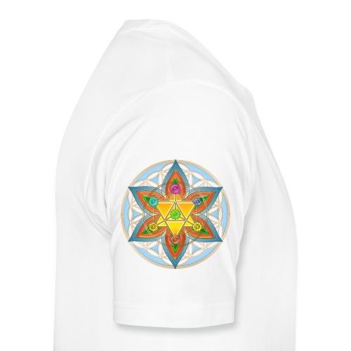 Die Blume des Lebens-Gelb - Männer Premium T-Shirt