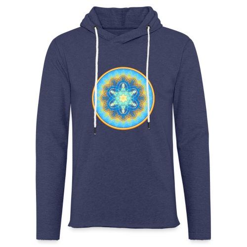 Mandala - Leichtes Kapuzensweatshirt Unisex
