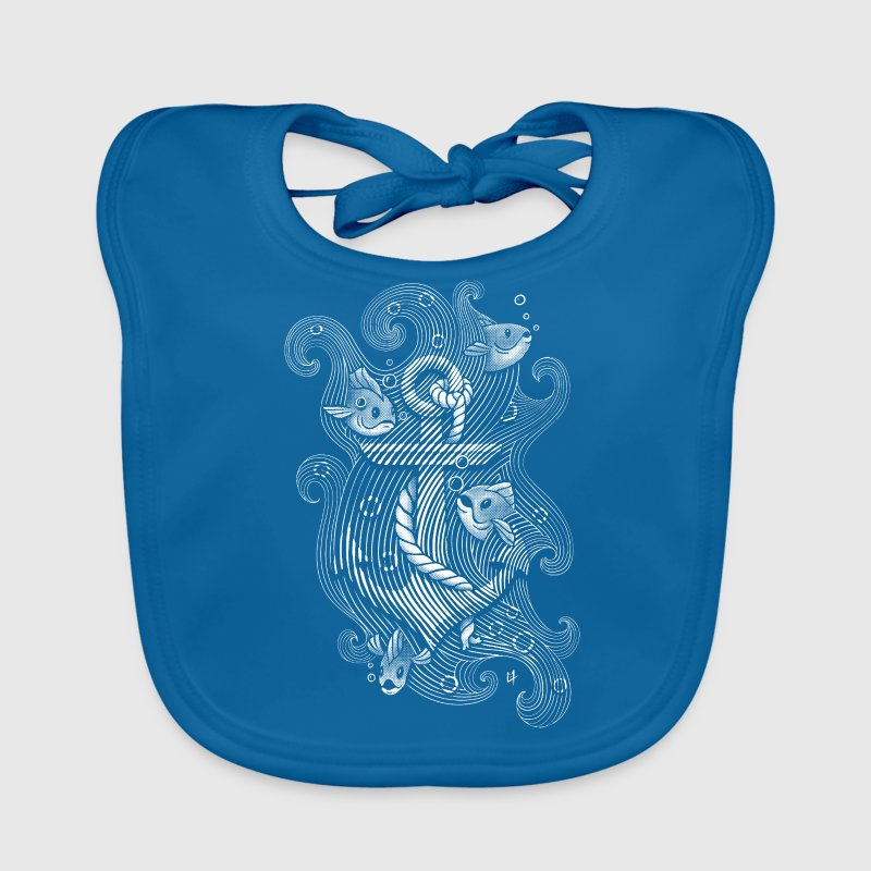Royal blue  Shirts - Baby Organic Bib