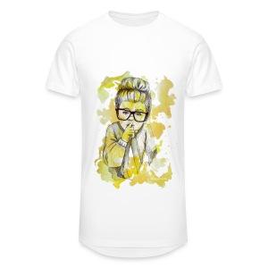 Mädchen mit Nerdbrille by carographic - Männer Urban Longshirt