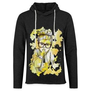 Mädchen mit Nerdbrille by carographic - Leichtes Kapuzensweatshirt Unisex
