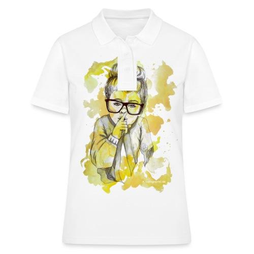 Mädchen mit Nerdbrille by carographic - Frauen Polo Shirt