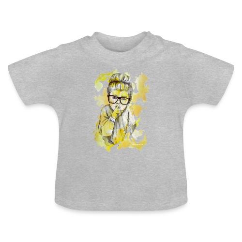 Mädchen mit Nerdbrille by carographic - Baby T-Shirt