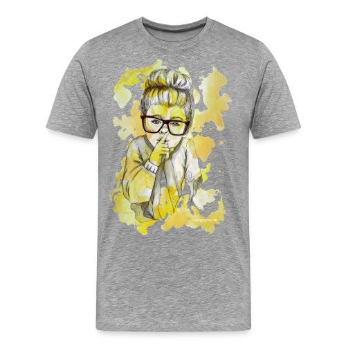 Mädchen mit Nerdbrille by carographic - Männer Premium T-Shirt