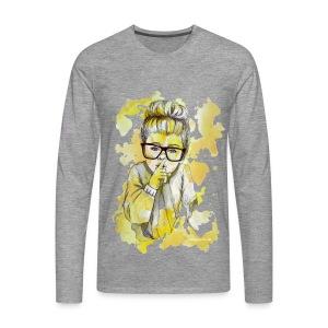Mädchen mit Nerdbrille by carographic - Männer Premium Langarmshirt