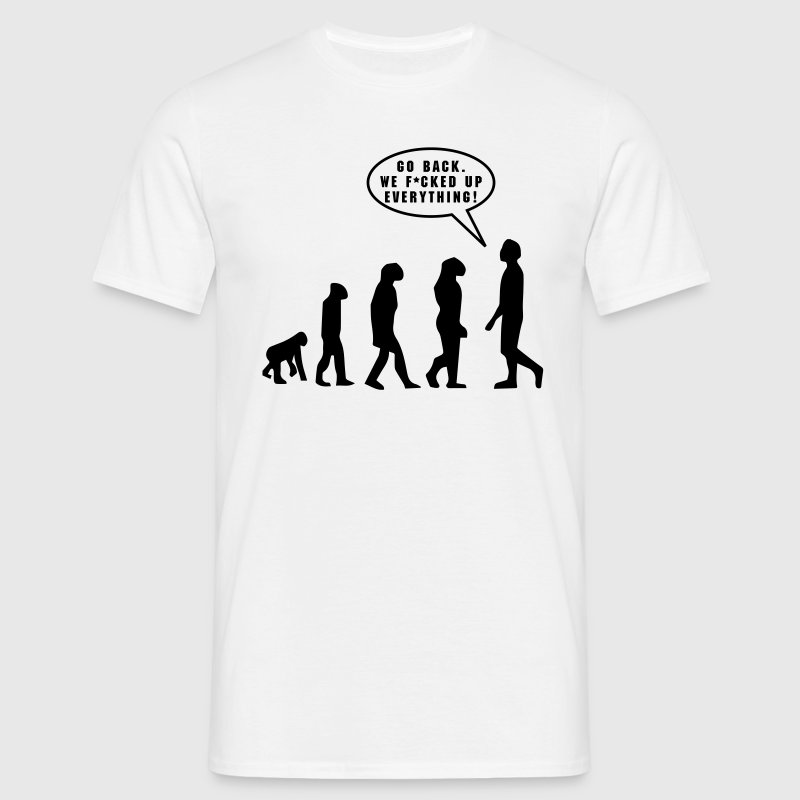 Evolution, f*cked up - Mannen T-shirt