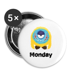 Montag Monster T-Shirts - Buttons klein 25 mm
