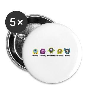 Wochentage Monster T-Shirts - Buttons klein 25 mm