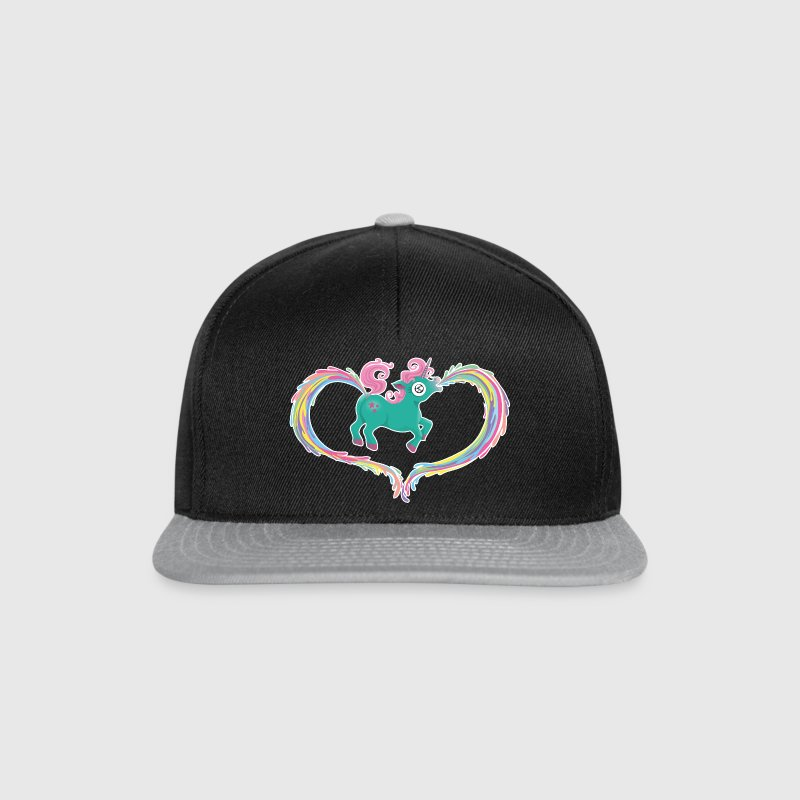 Black/grey Unicorn Caps & Hats - Snapback Cap