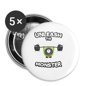 Unleash the Monster Sportbekleidung - Buttons klein 25 mm