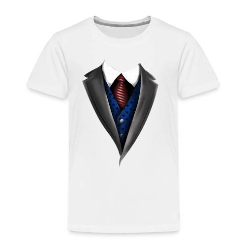 Tuxedo Tie Designs blue vest - Kinder Premium T-Shirt