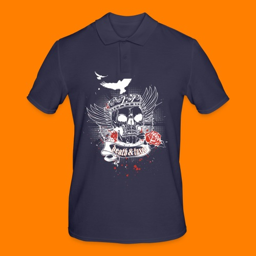 Death & Taxes tee shirt - Men's Polo Shirt