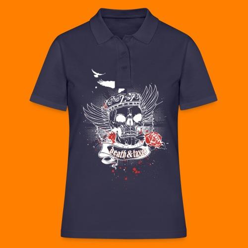 Death & Taxes tee shirt - Women's Polo Shirt