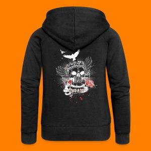 Death & Taxes tee shirt - Women's Premium Hooded Jacket