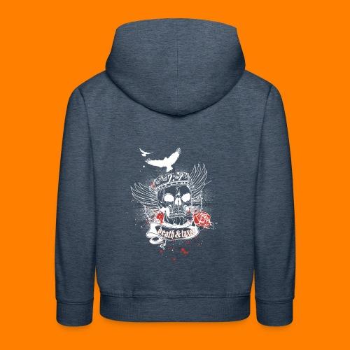 Death & Taxes tee shirt - Kids' Premium Hoodie