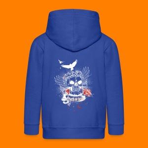 Death & Taxes tee shirt - Kids' Premium Zip Hoodie