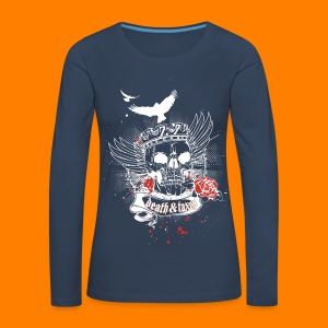 Death & Taxes tee shirt - Women's Premium Longsleeve Shirt