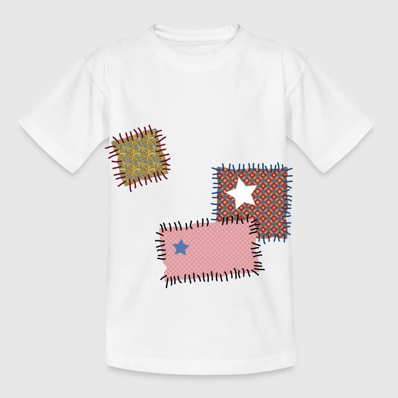 Kinder T-Shirt Flicken Patchwork Reparatur repair - Kinder T-Shirt