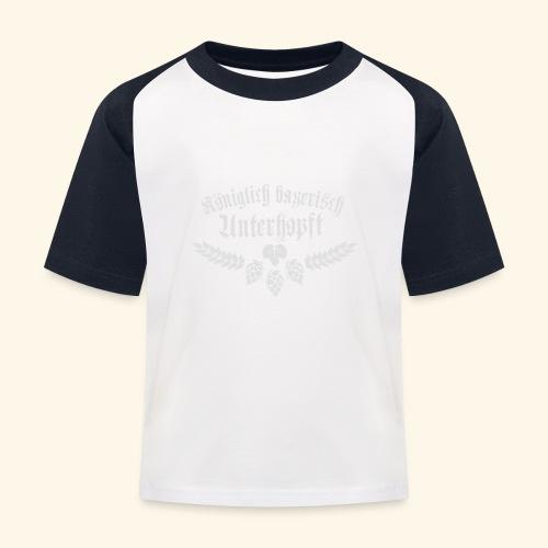 Königlich bayerisch unterhopft - Kinder Baseball T-Shirt