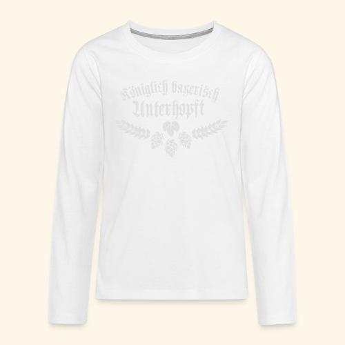 Königlich bayerisch unterhopft - Teenager Premium Langarmshirt
