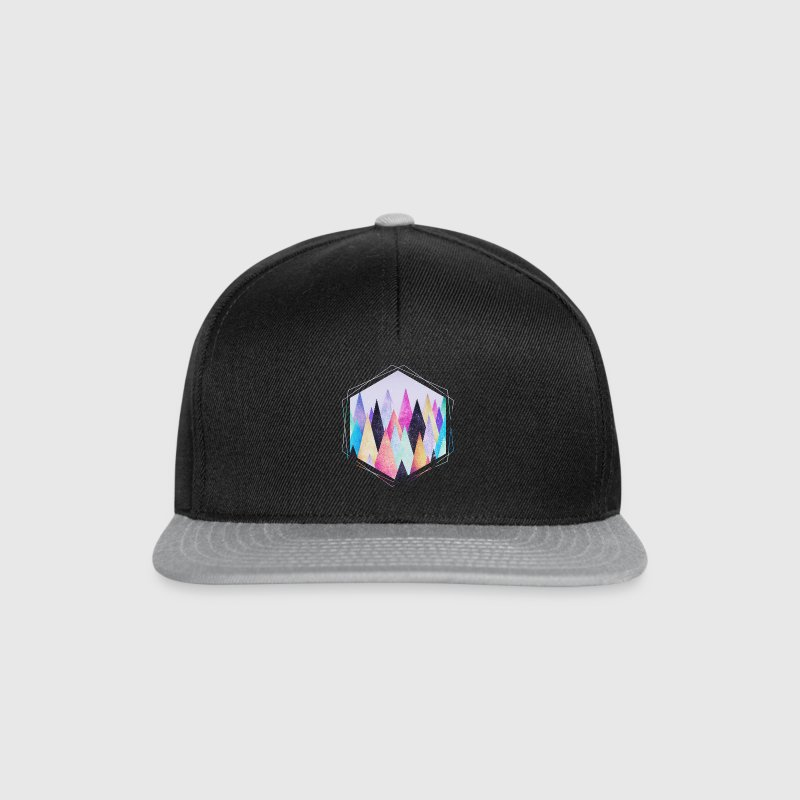 Hipster triangles (geometry) Abstract Mountains  Casquettes et bonnets - Casquette snapback