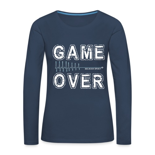 BELGIAN GAME-OVER - T-shirt manches longues Premium Femme